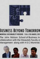 Business Beyond Tomorrow conference at the John Molson School of Business at Concordia University.