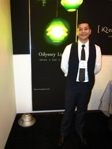 Ismael Quintero of iQ Environments showcasing his fantastic Odyssey Light.