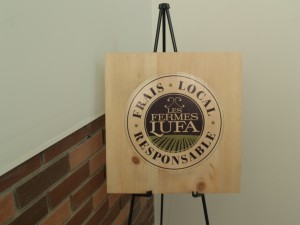 Lufa Farms' logo and ethos: Fresh, local, responsible