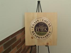 Lufa Farms' logo and ethos: Fresh, local, responsible