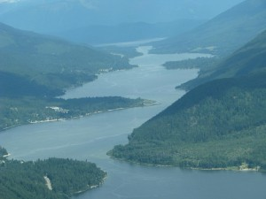 A view down Kootenay Lake as we headed off to the mountains