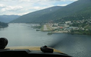 The return to Nelson – the approach to landing.